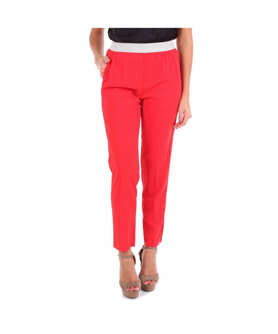 Image for JUCCA WOMEN'S J29141011575 RED VISCOSE PANTS