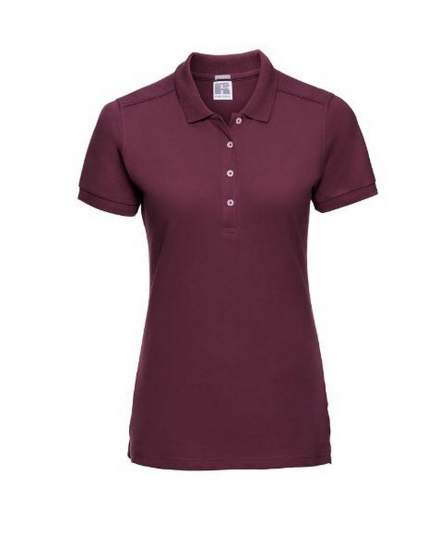 Image for Russell Women's Stretch Short Sleeve Polo Shirt (Burgundy)