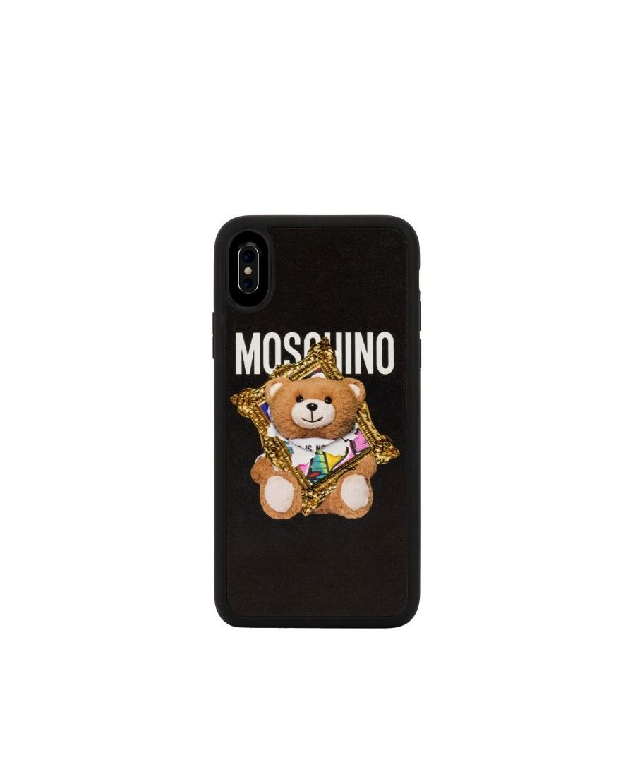 Image for MOSCHINO WOMEN'S A791283121555 BLACK PVC COVER