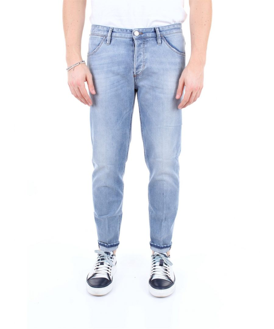 Image for PT01 MEN'S TX04TJ25B10MINJEANSCHIARO BLUE COTTON JEANS