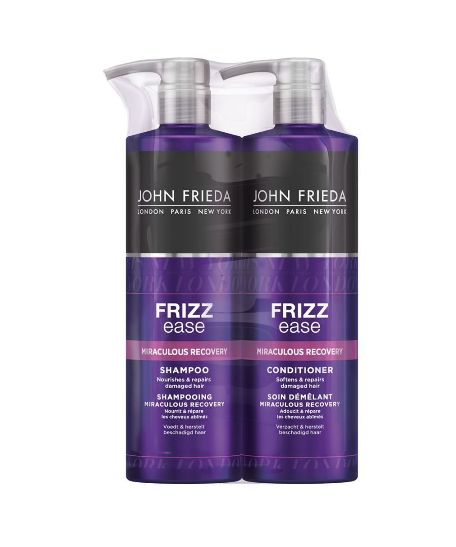 Image for John Frieda Frizz Ease Miraculous Recovery Frizzy Hair Shampoo & Conditioner 500ml Duo Pack