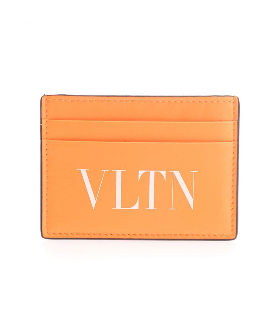 Image for VALENTINO GARAVANI MEN'S TY0P0448CFWCK0 ORANGE LEATHER CARD HOLDER