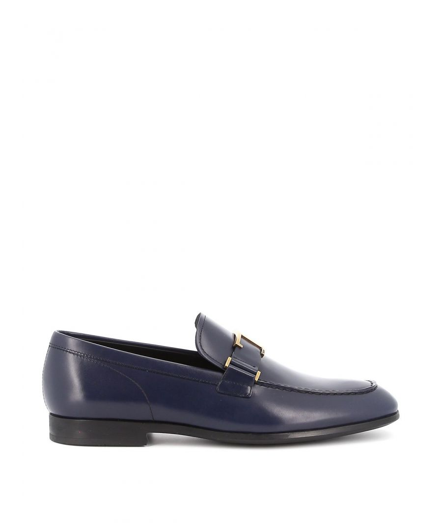 Image for TOD'S MEN'S XXM51B0CT61LYGU820 BLUE LEATHER LOAFERS