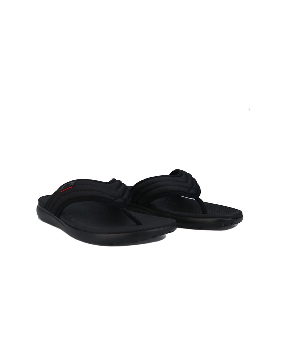 Image for Men's Fit Flop Kian Crosshatch Toe-Thong Sandals in Black