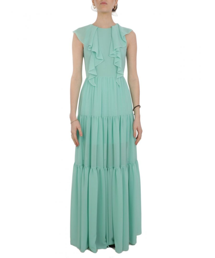 Image for ANIYE BY WOMEN'S 18516600213 LIGHT BLUE POLYESTER DRESS