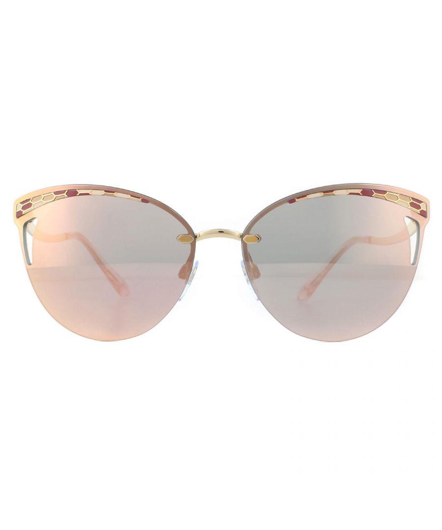 Image for Bvlgari Sunglasses BV6110 20144Z Pink Gold Rose Gold Mirror