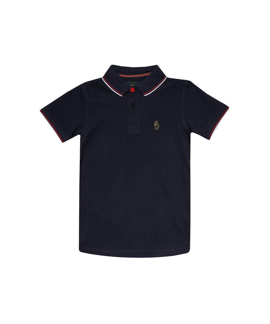 Image for Boys' Luke 1977 Junior Tip Off Polo Shirt in navy red white
