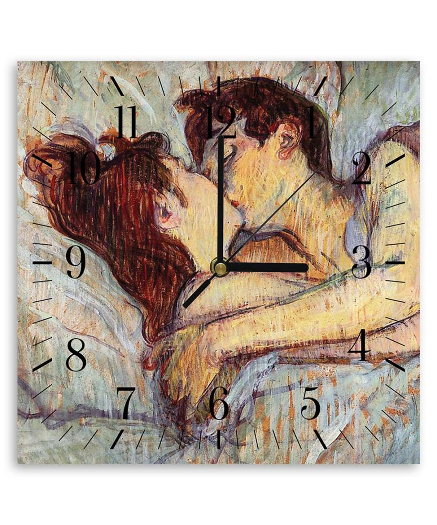 Image for Wall Clock - In Bed (The Kiss) - Henri De Toulouse-Lautrec Cm. 30x30