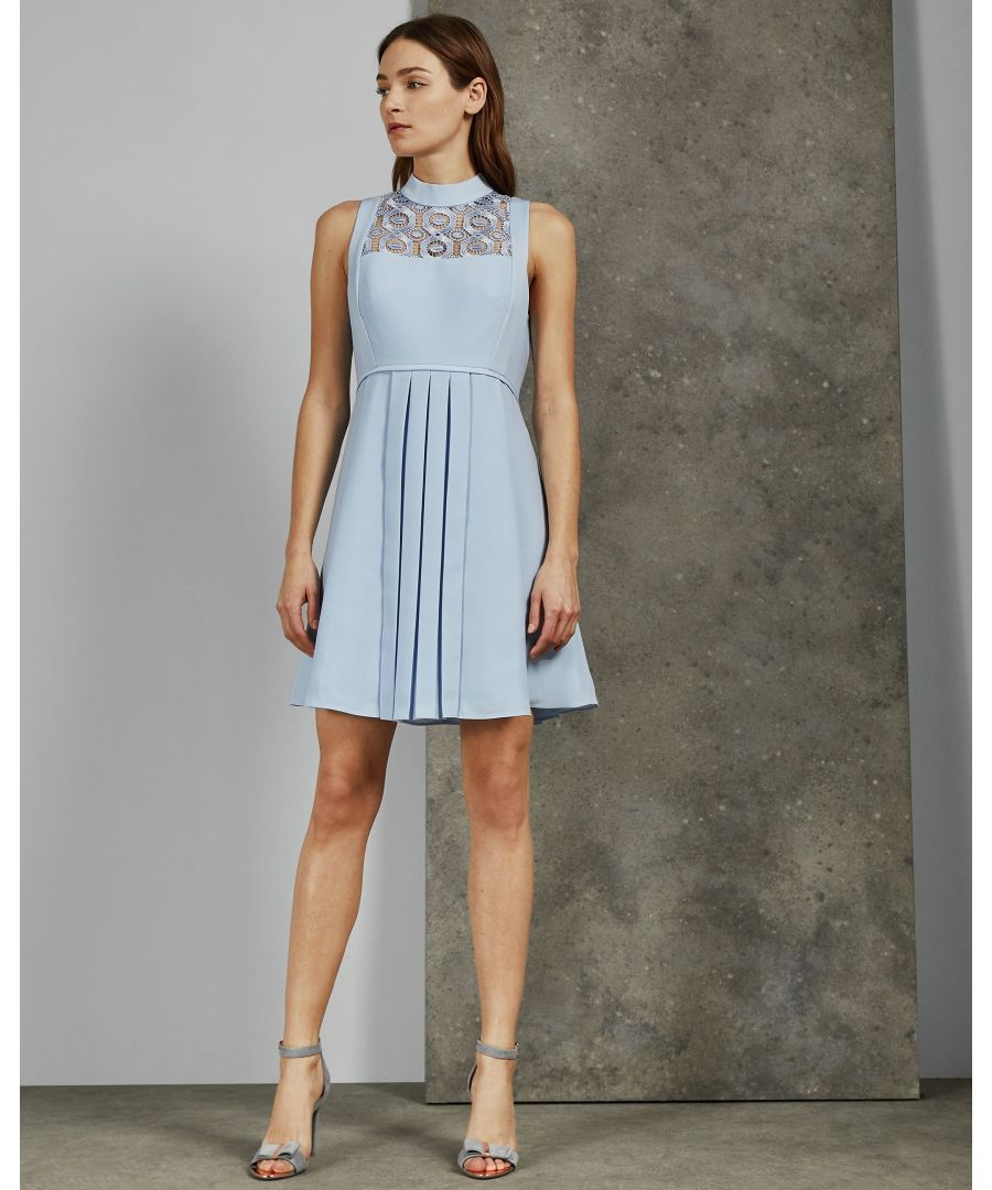 Image for Ted Baker Abequa Bib Detail Lace Tunic, Light Blue
