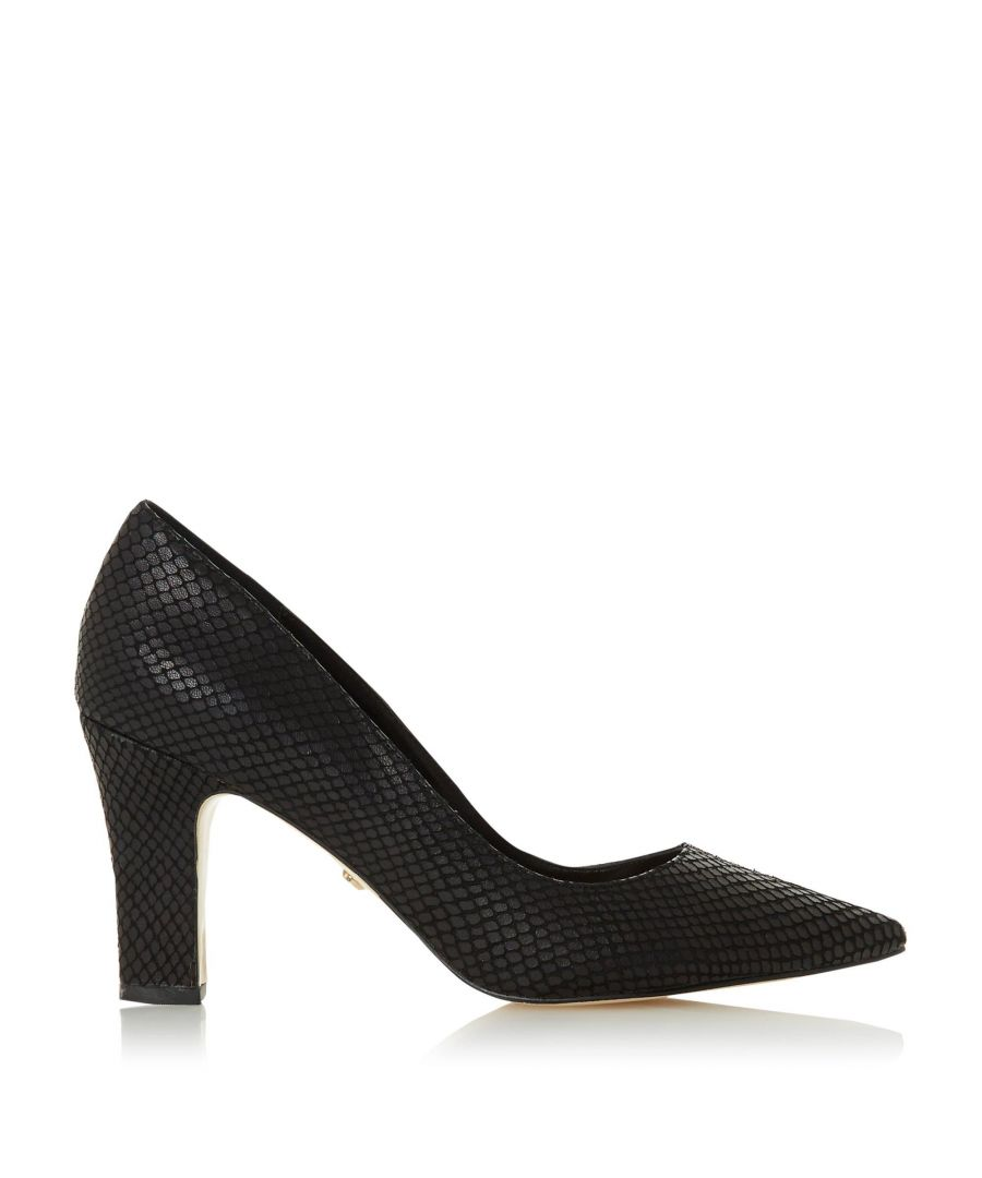 Image for Dune Ladies ABIGAIL T Pointed Toe Mid Heel Court Shoes