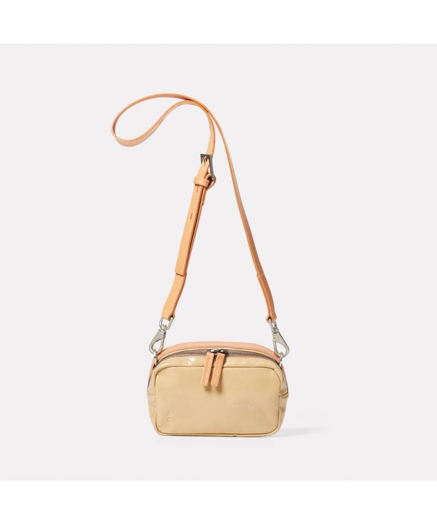 Image for LEILA - SMALL CALVERT LEATHER BEIGE GLOSS
