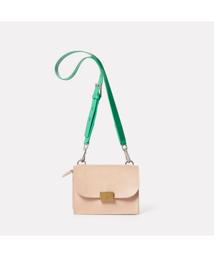 Image for Lockie Boundary Leather Crossbody Lock Bag in Taupe