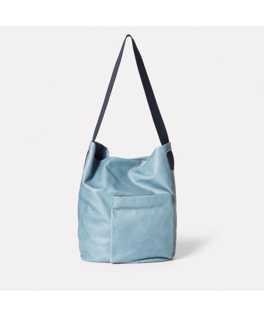 Image for Bobo Camlet Leather Shoulder Bag in Denim
