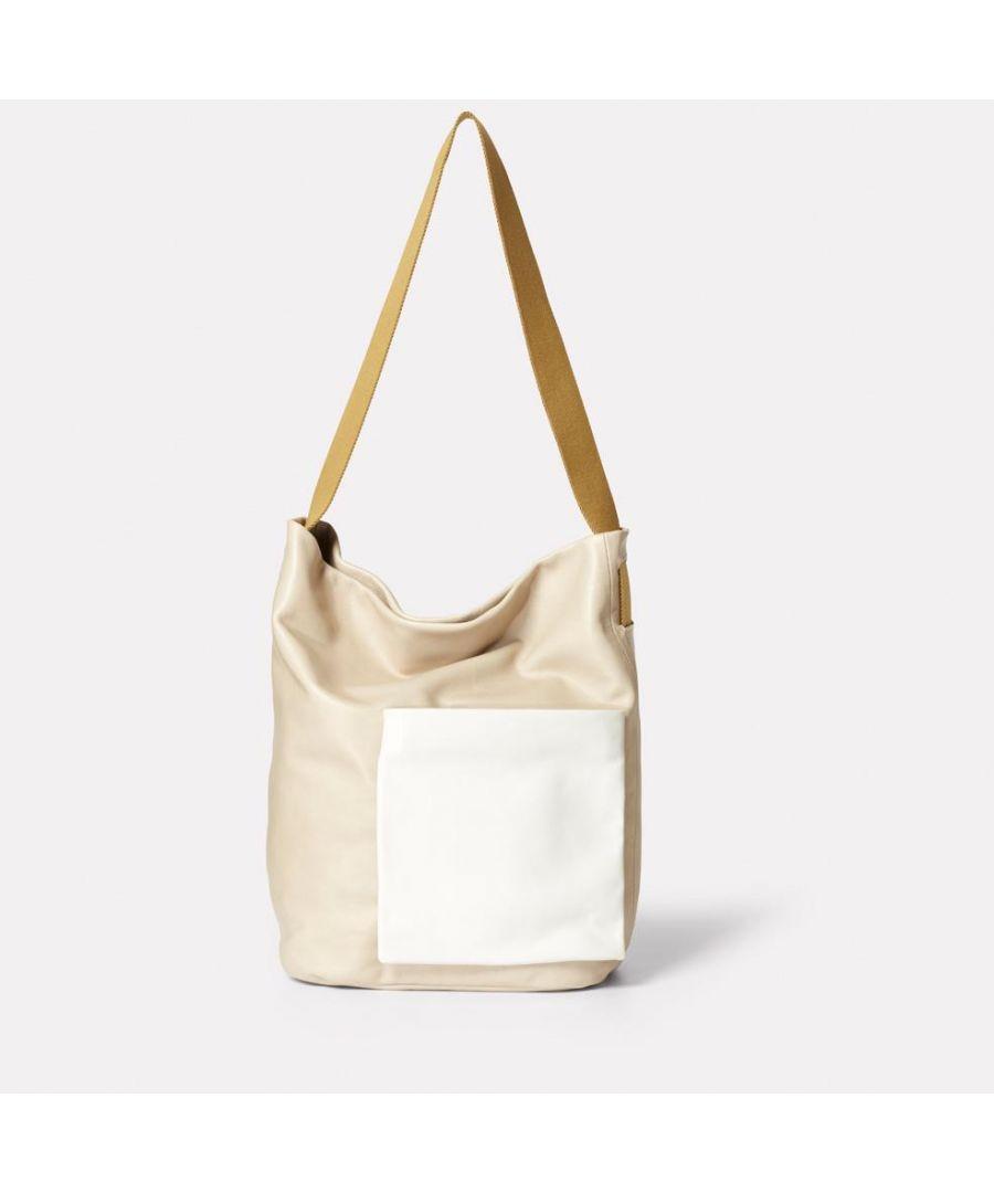 Image for Bobo Camlet Leather shoulder Bag in Stone
