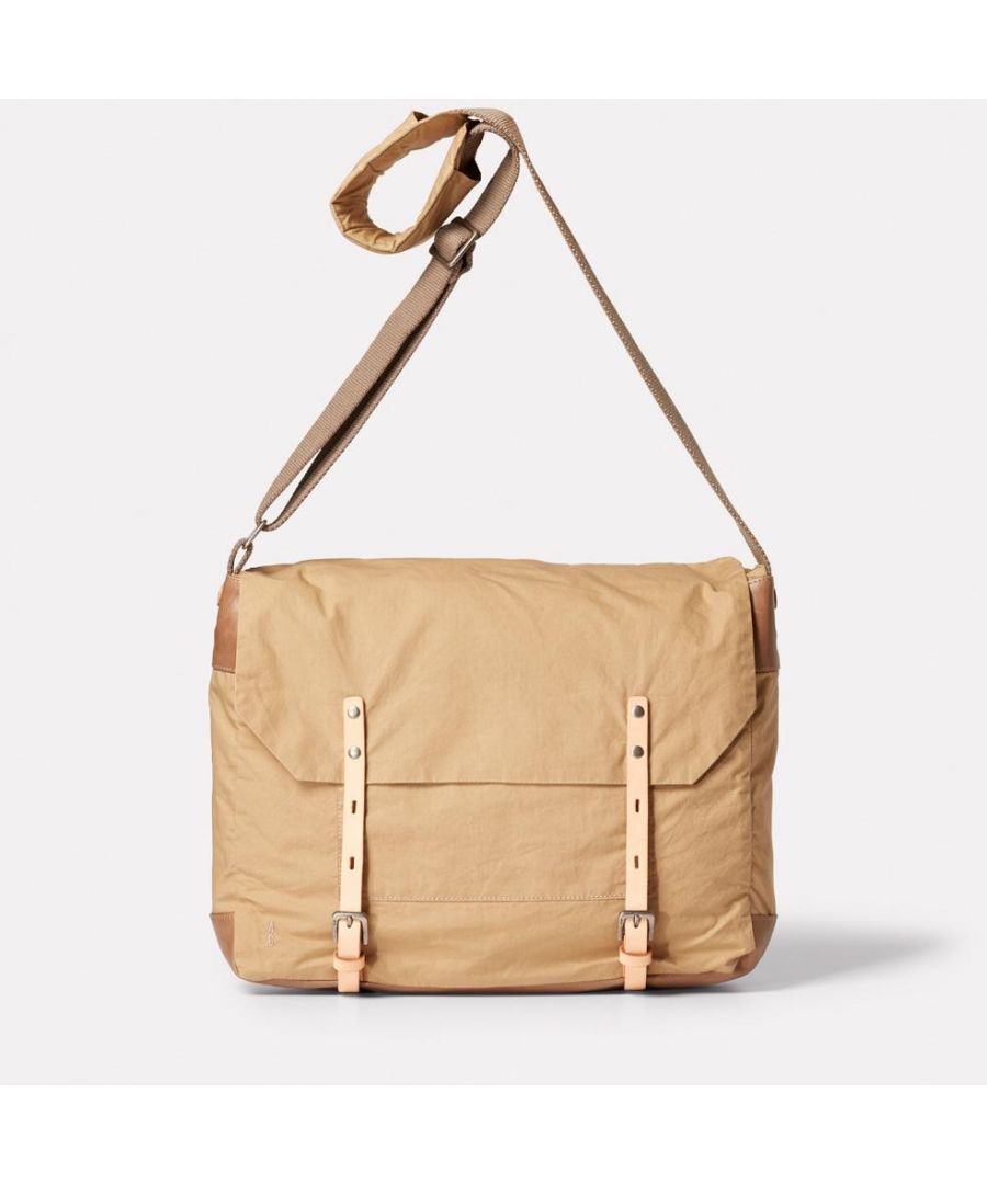 Image for Jeremy Waxed Cotton Satchel in Sand