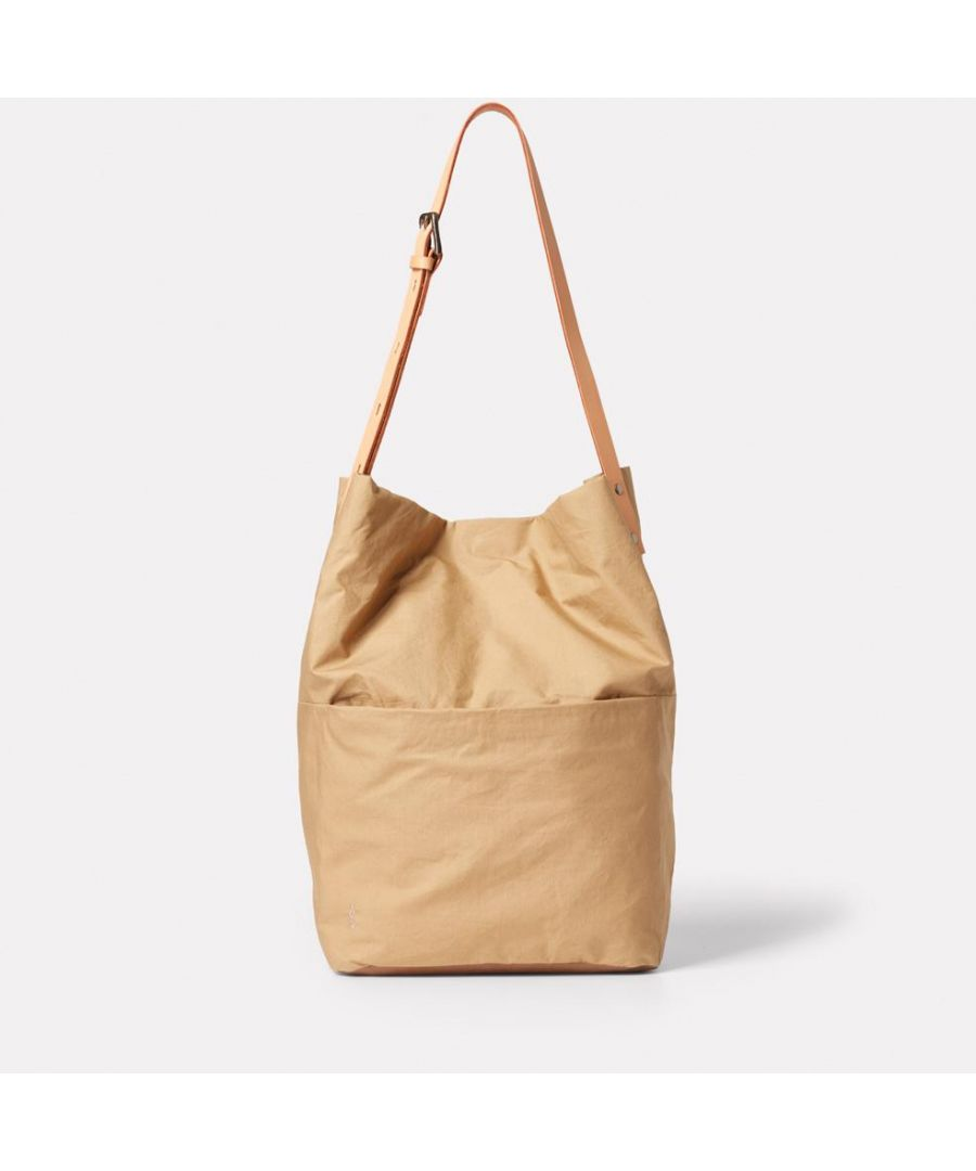 Image for Lloyd Waxed Cotton Bucket Bag in Sand