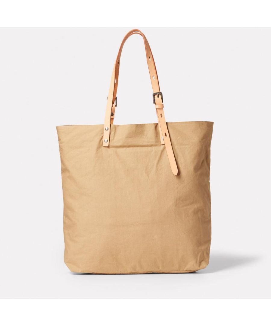 Image for Natalie Waxed Cotton Tote in Sand