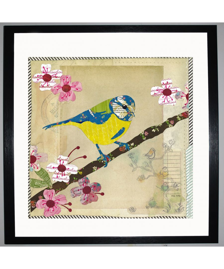 Image for Blue Tit by UK Collage artist and illustrator Clare Thompson