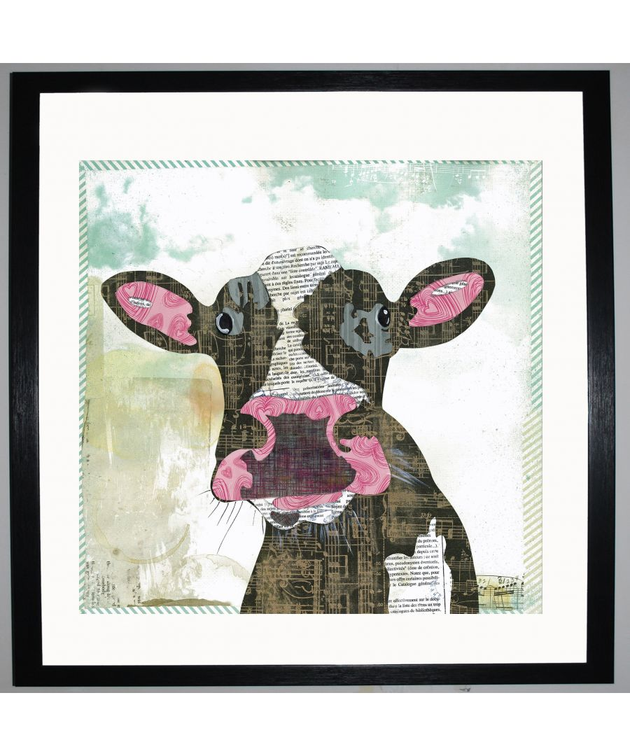 Image for Cow by UK Collage artist and illustrator Clare Thompson