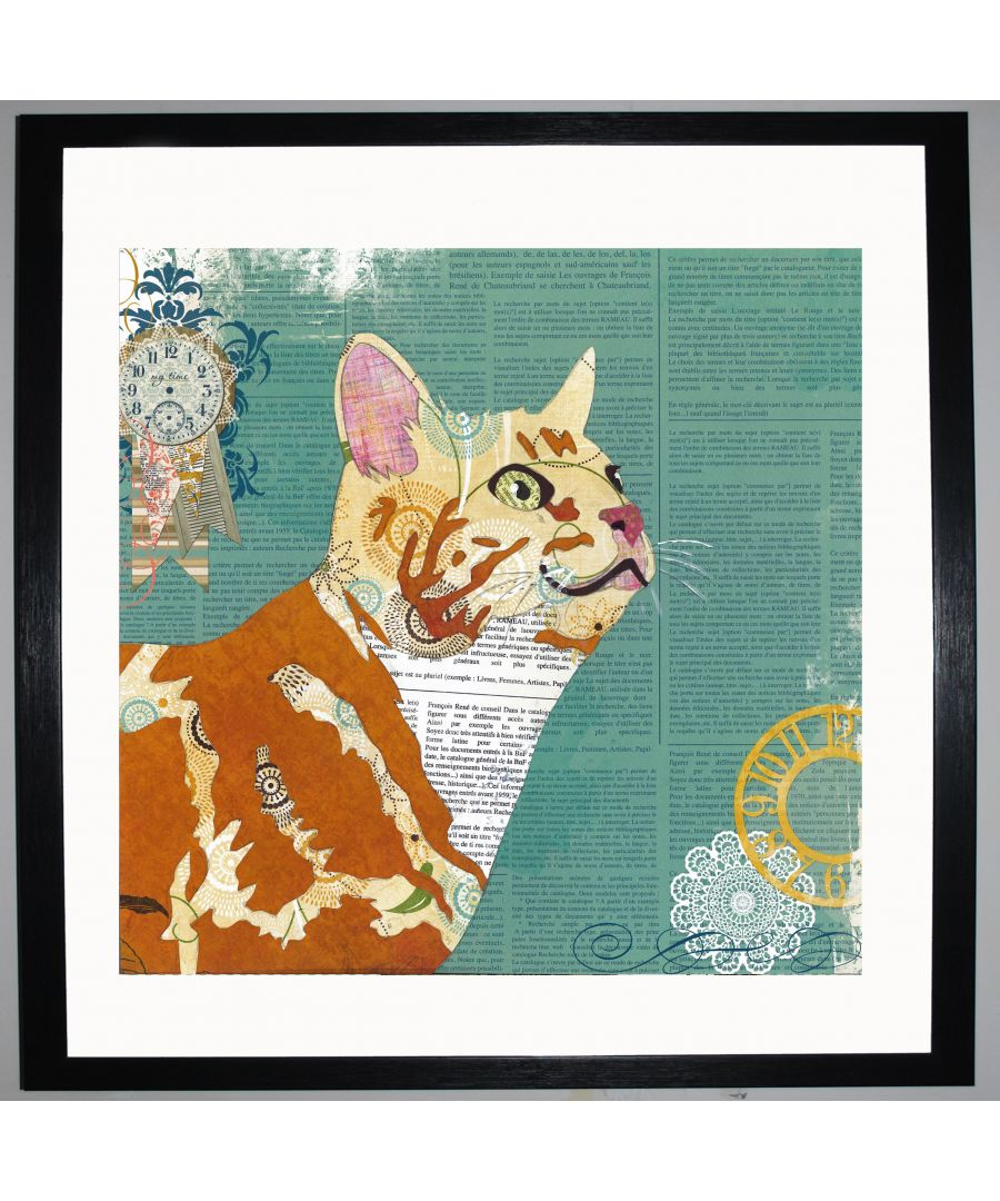 Image for Ginger Cat by UK Collage artist and illustrator Clare Thompson