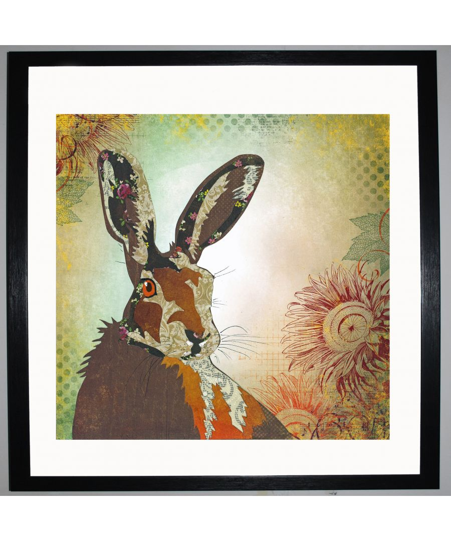 Image for Hare by UK Collage artist and illustrator Clare Thompson