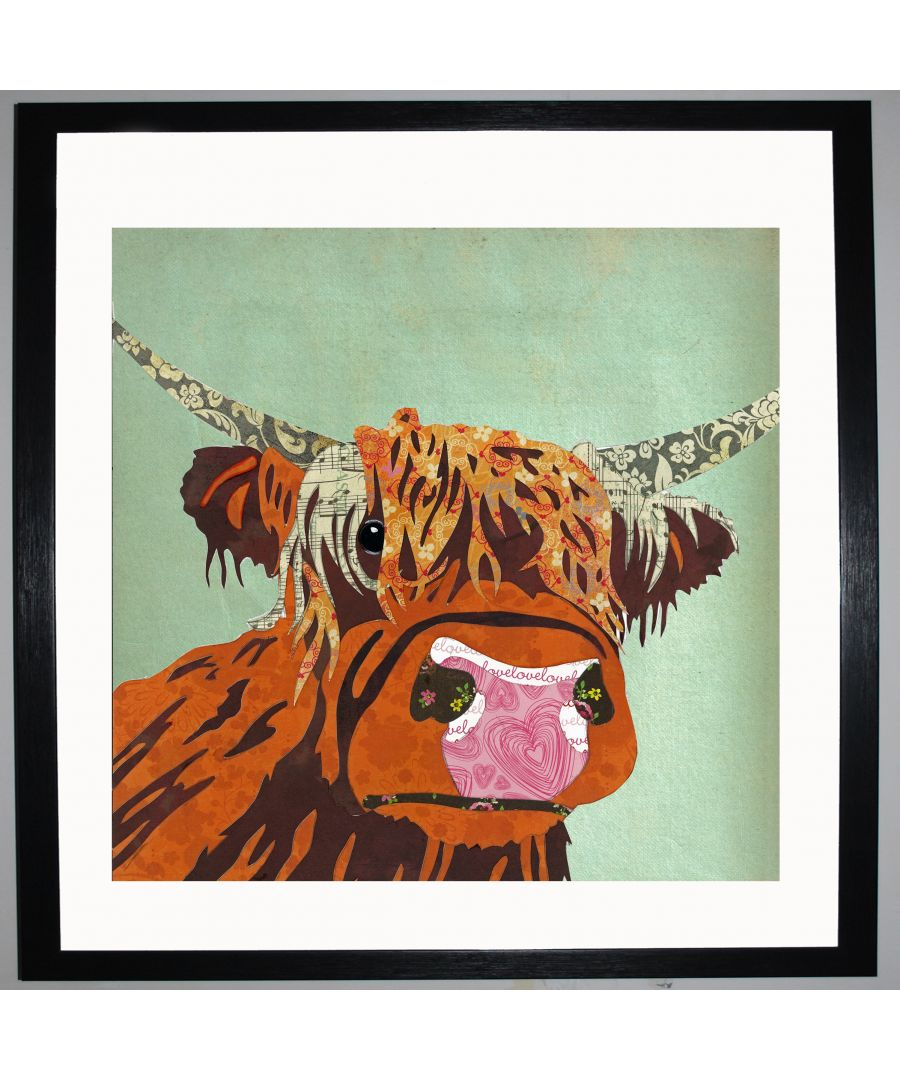 Image for Highland Cow by UK Collage artist and illustrator Clare Thompson