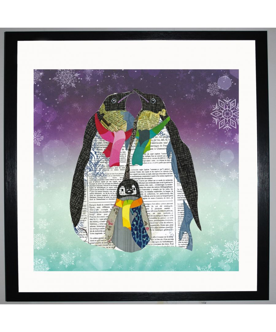 Image for Penguins by UK Collage artist and illustrator Clare Thompson