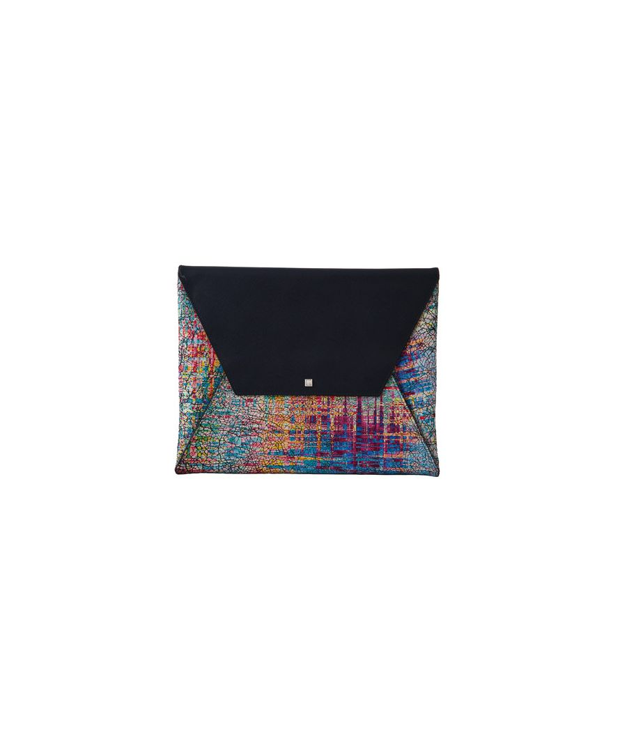 Image for Graffiti Colorama leather patterned bag