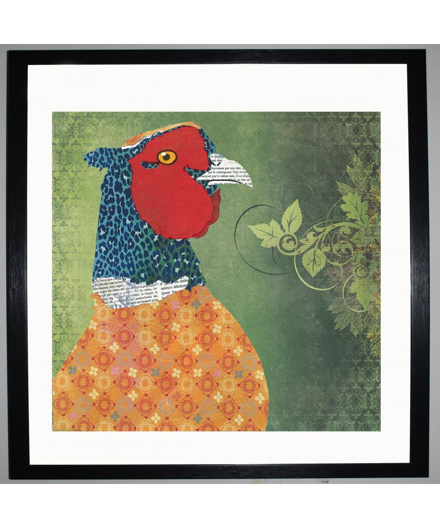 Image for Pheasant by UK Collage artist and illustrator Clare Thompson