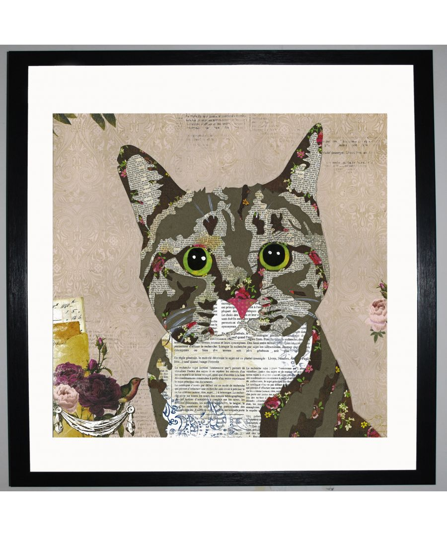 Image for Tabby Cat by UK Collage artist and illustrator Clare Thompson