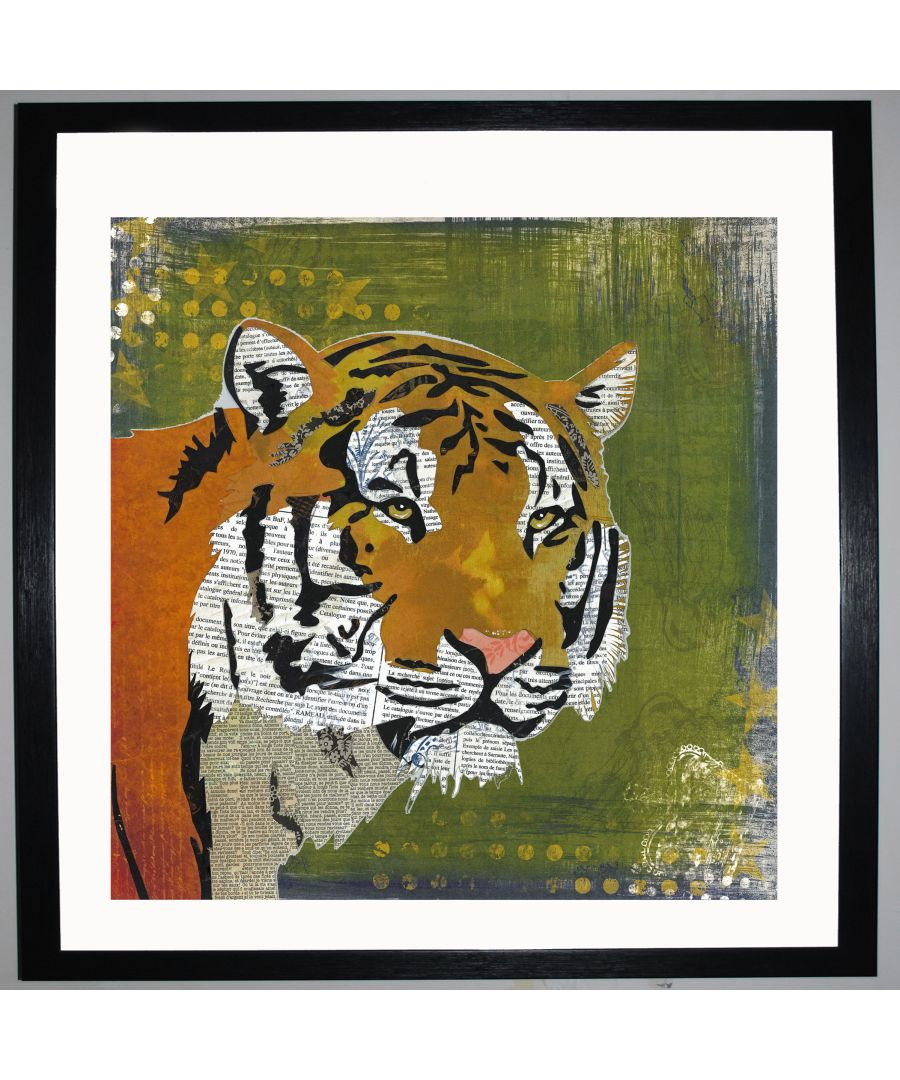 Image for Tiger by UK Collage artist and illustrator Clare Thompson