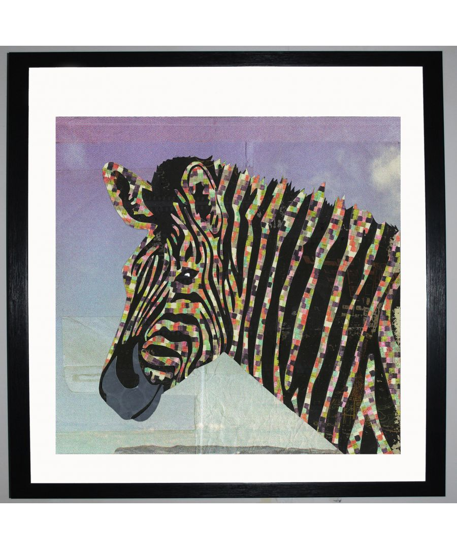 Image for Zebra by UK Collage artist and illustrator Clare Thompson