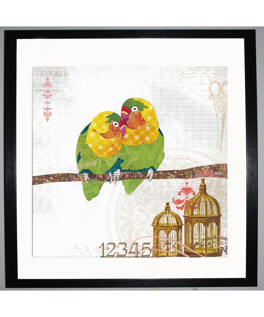Image for Love Birds by UK Collage artist and illustrator Clare Thompson