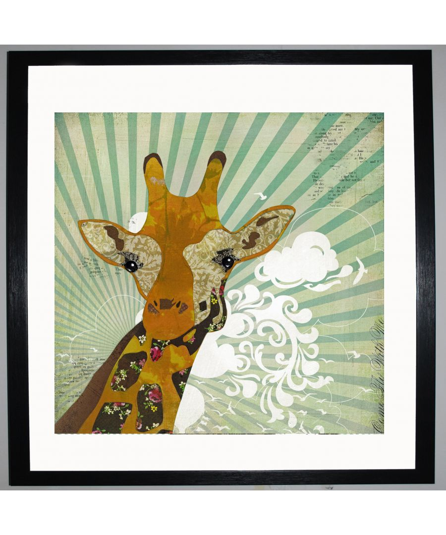 Image for Giraffe by UK Collage artist and illustrator Clare Thompson