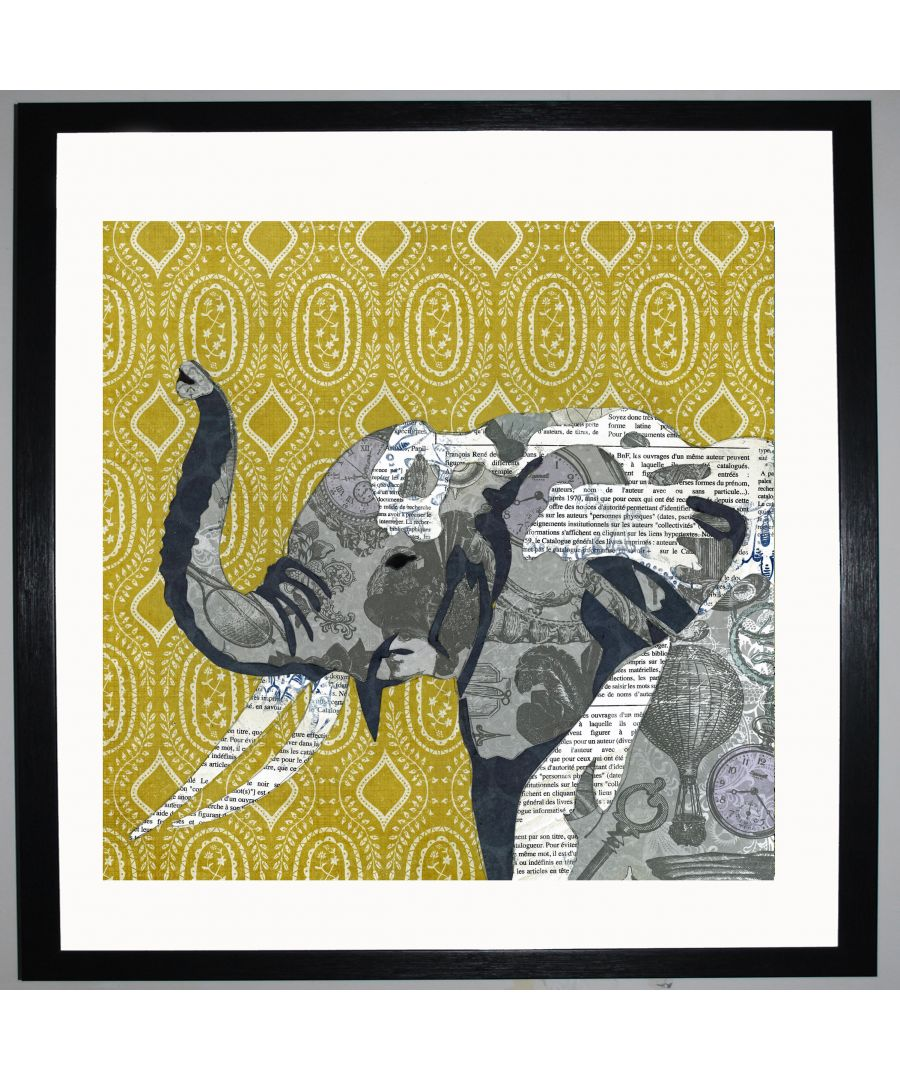 Image for Elephant by UK Collage artist and illustrator Clare Thompson