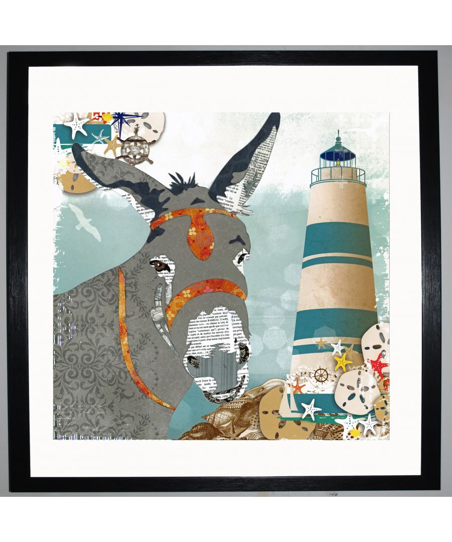 Image for Donkey by UK Collage artist and illustrator Clare Thompson