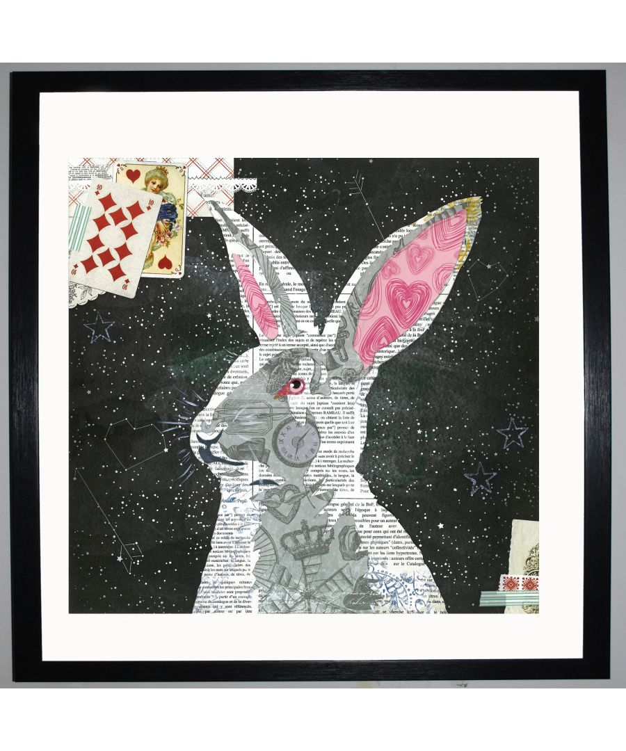 Image for White Rabbit by UK Collage artist and illustrator Clare Thompson