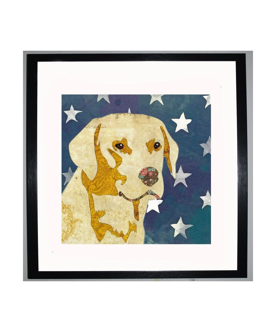 Image for Golden Labrador by UK Collage artist and illustrator Clare Thompson