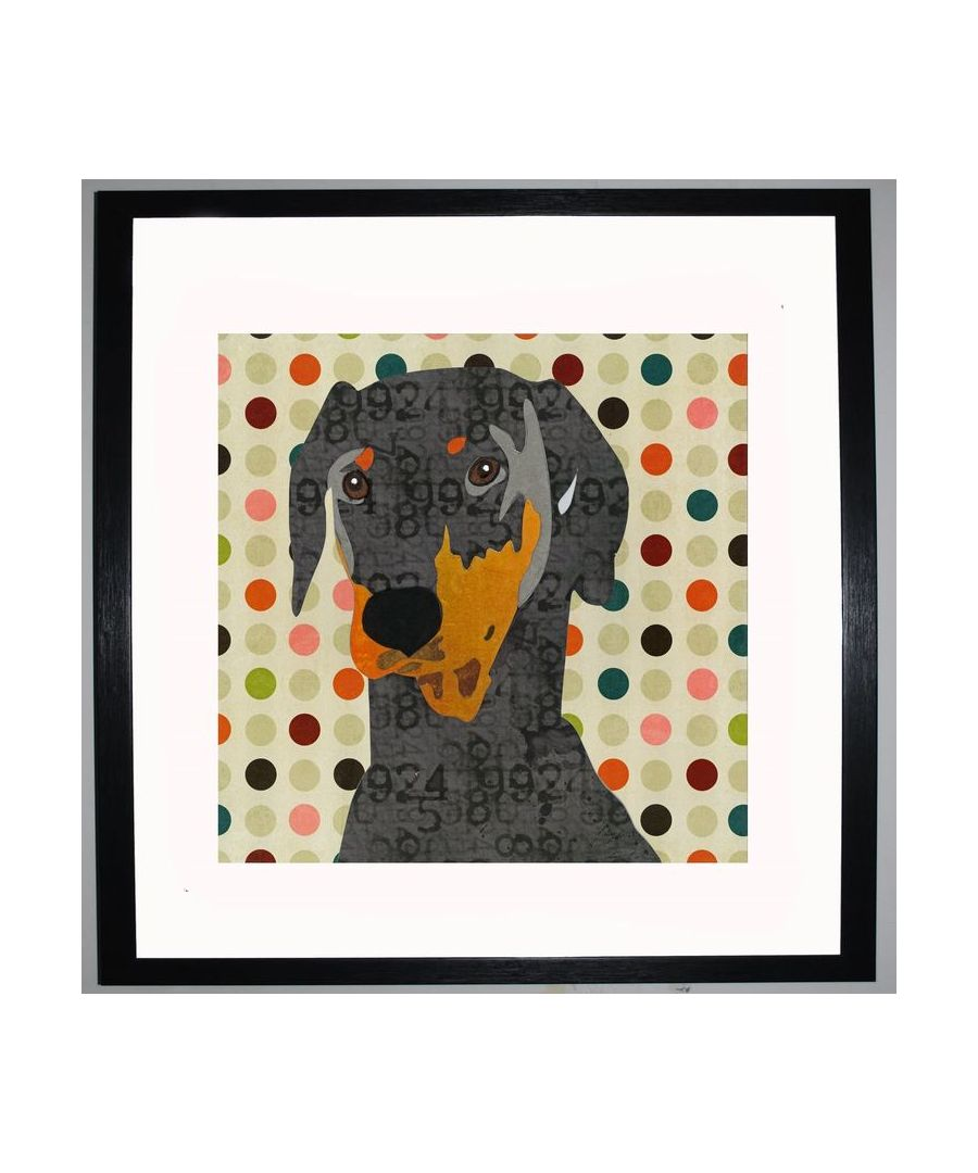 Image for Doberman by UK Collage artist and illustrator Clare Thompson