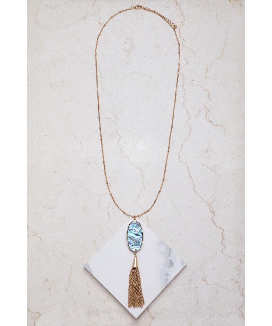 Image for Marbled Tasstle Necklace