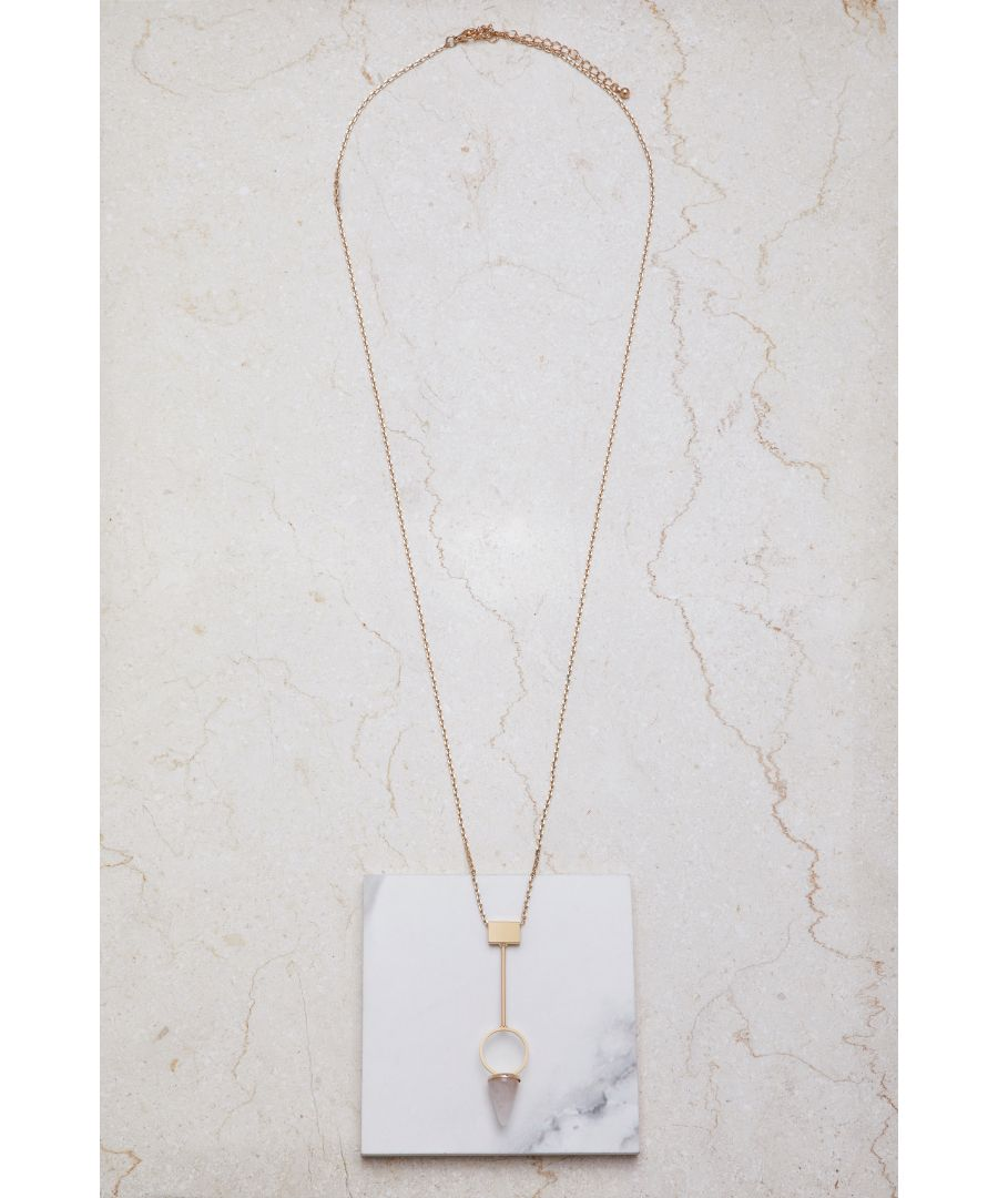 Image for Faux Rose Quartz Necklace