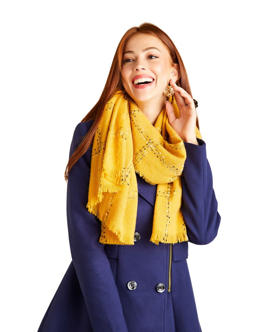 Image for Mustard Check Scarf