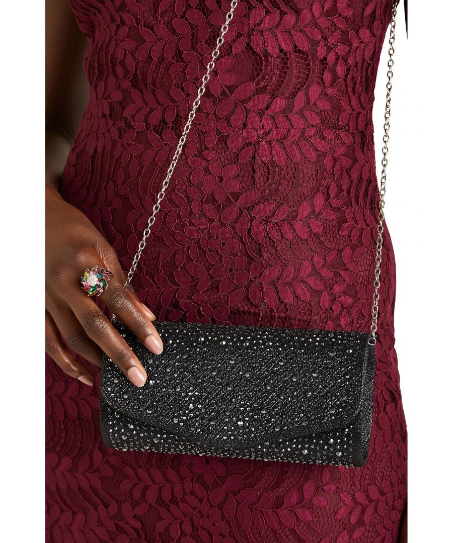 Image for Silver Sequin Clutch Bag