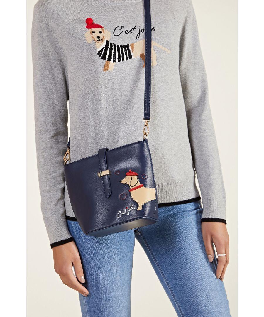 Image for Embroidered Dog Bag