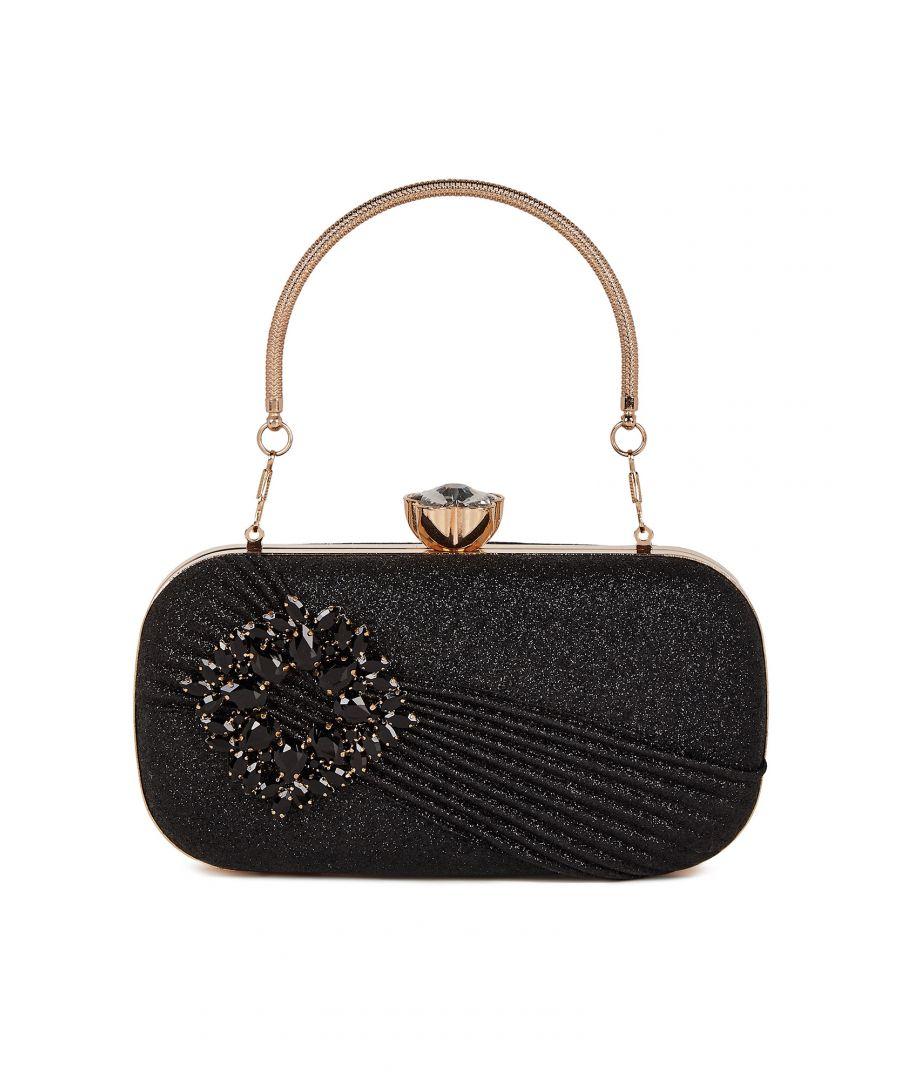 Image for Black Embellished Sparkle Party Bag