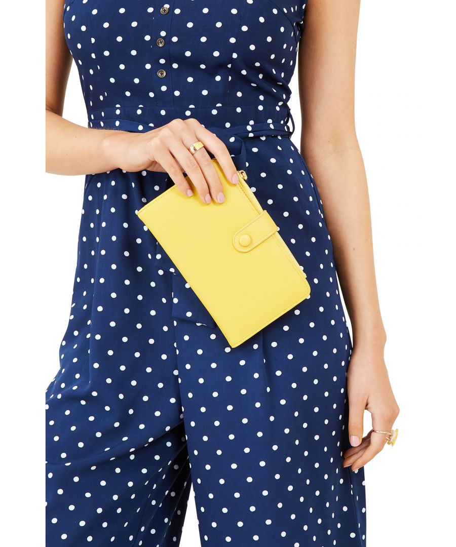 Image for Yellow Wallet With Fold Out Compartments