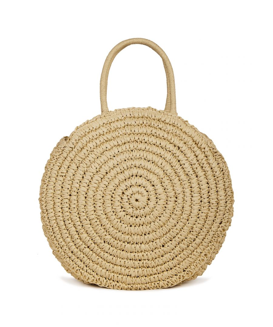 Image for Handwoven Straw Circle Bag