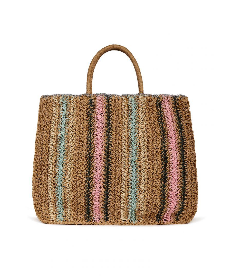 Image for Handmade Stripe With Crochet Edge Beach