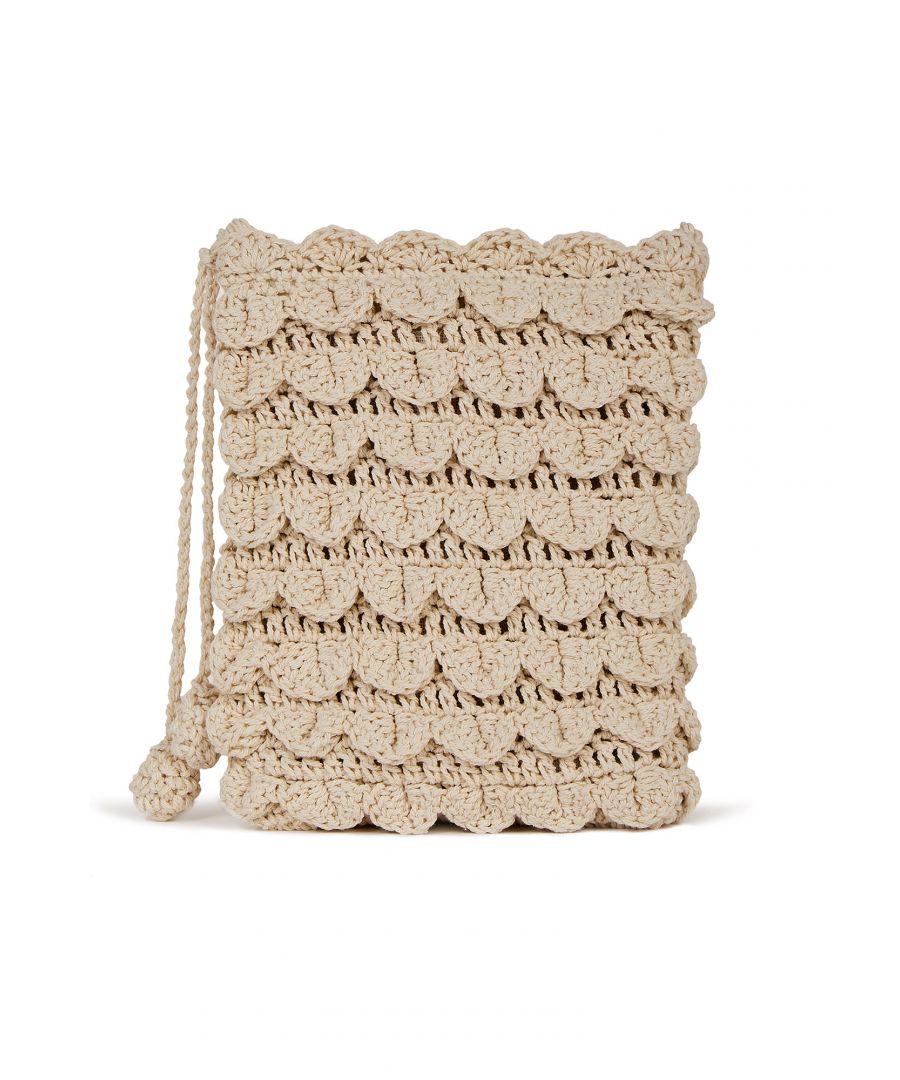 Image for Hand Crochet Edged Passport Bag