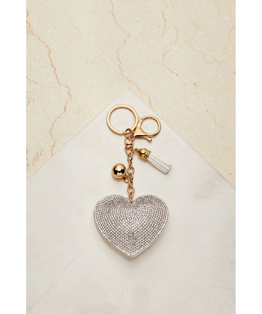 Image for SEQUIN HEART KEYRING